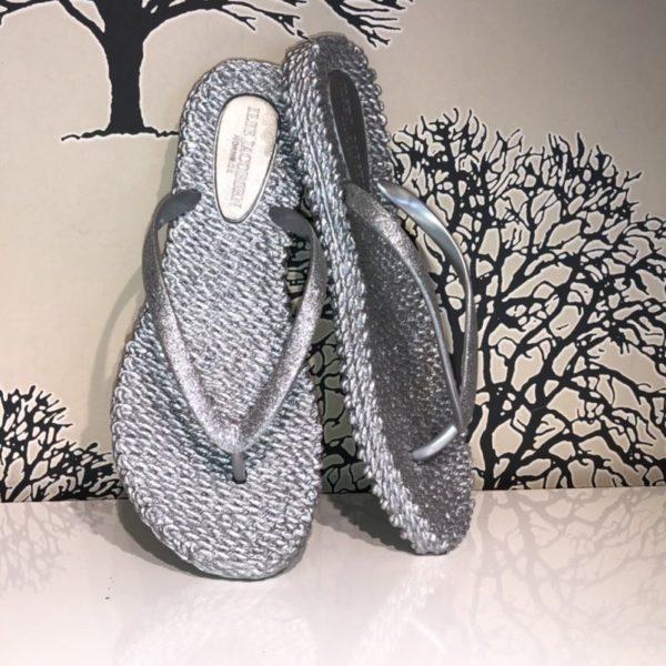 Flipflops silver glitter